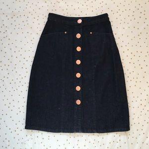 Modcloth My Neighbor Toronto midi denim jean skirt